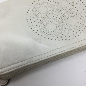 Coach Bags - Coach White Leather Wristlet Bag